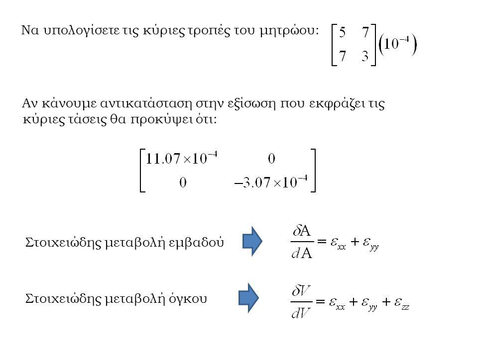9.1 Ενέργεια Παραμόρφωσης Ε: Ολική Ενέργεια Κ: Κινητική Ενέργεια (αγνοείται όταν λύνουμε στατικά προβλήματα) U: Εσωτερική Ενέργεια e(x,y,z): Πυκνότητα εσωτερικής ενέργειας (αν το υλικό δεν είναι ομοιογενές έχει διαφορετική πυκνότητα στο εσωτερικό του)