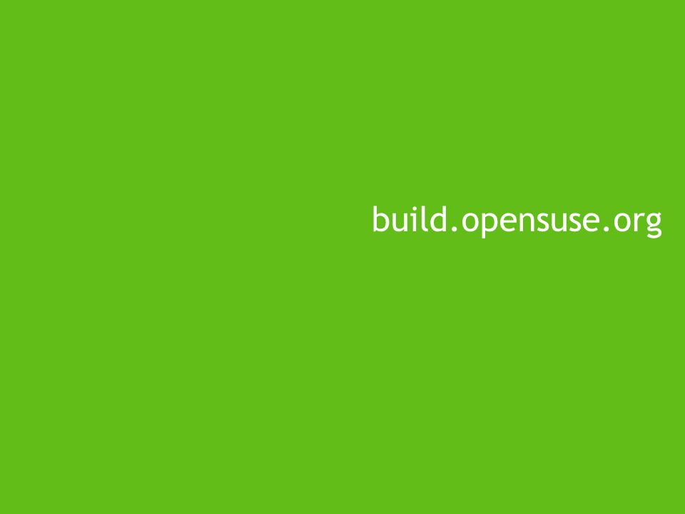 build.opensuse.org