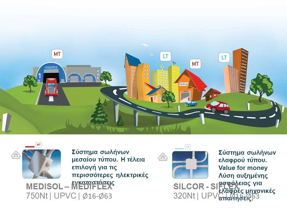 Σύστημα σωλήνων μεσαίου τύπου. Η τέλεια επιλογή για τις περισσότερες ηλεκτρικές εγκαταστάσεις Σύστημα σωλήνων ελαφρού τύπου. Value for money Λύση αυξη
