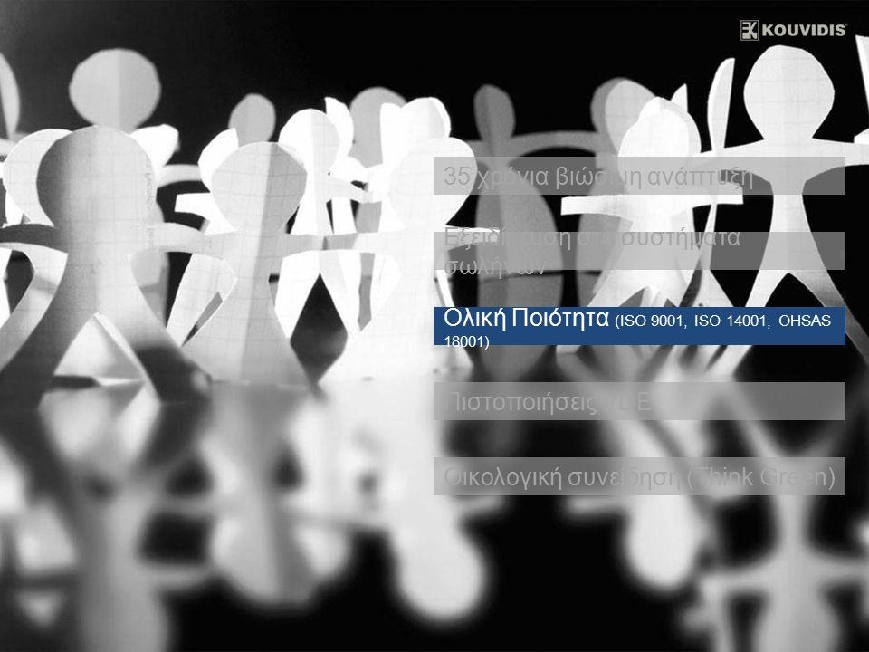 Πολυκαταστήματα IKEA The Romanos COSTA NAVARINO Αεροδρόμιο Αθηνών Metro Αθηνών Κέντρο επεξεργασίας λυμάτων, Παιανία Μουσείο Ακρόπολης Κέντρο πολιτισμού, Σταύρος Νιάρχος Πολυκαταστήματα Praktiker Φ/Π 5 MW, Θήβα Αυτοκινητόδρομος Αιγαίου, Τέμπη