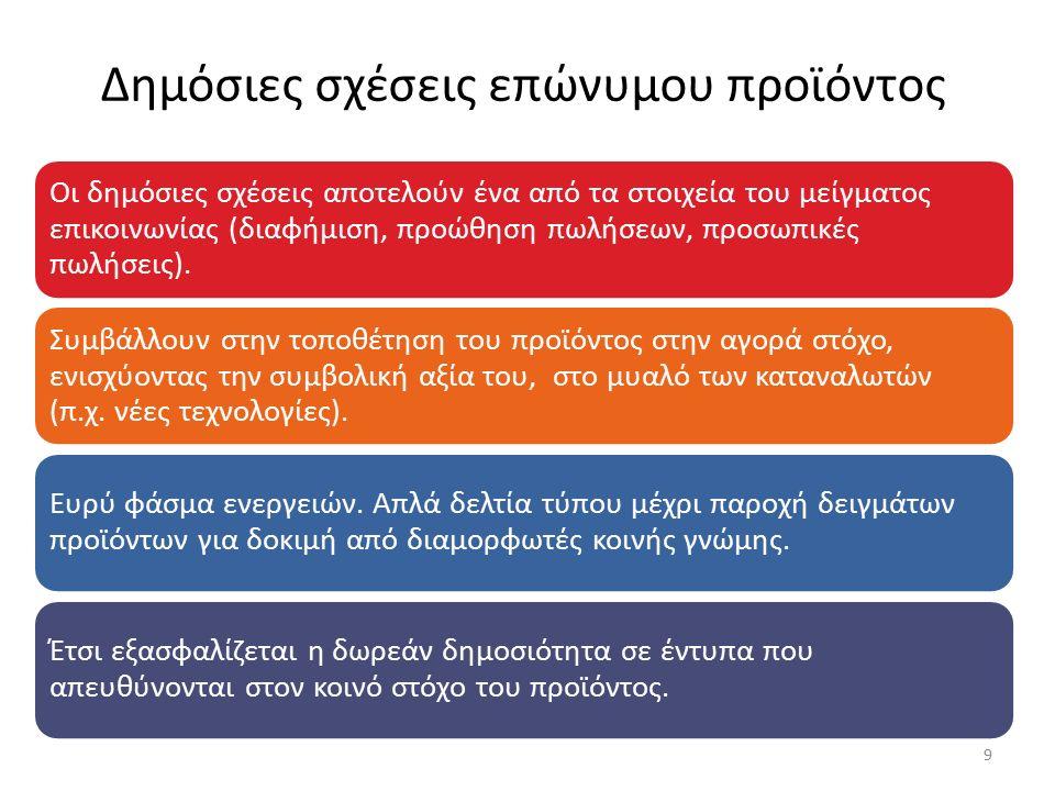 Τμήμα Δ.Σ.- ΟΤΕ Επικοινωνία με μέτοχους, προμηθευτές, κλπ.