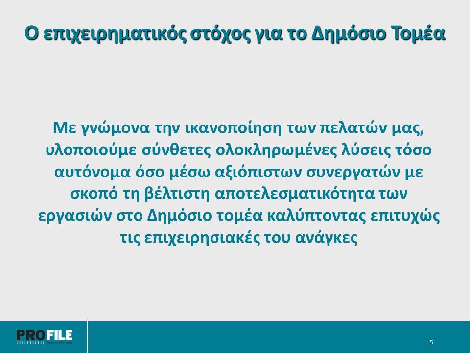 Ενδεικτικό πελατολόγιο Δημοσίου Τομέα *Trademarks are property of their respective owners.