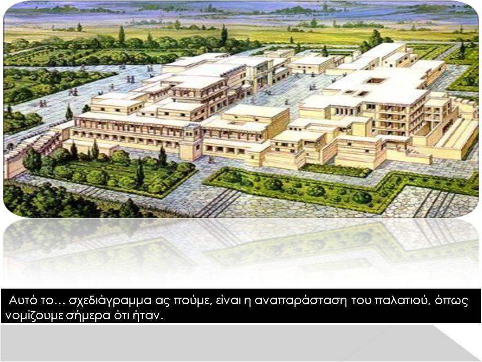 Αυτό το… σχεδιάγραμμα ας πούμε, είναι η αναπαράσταση του παλατιού, όπως νομίζουμε σήμερα ότι ήταν.
