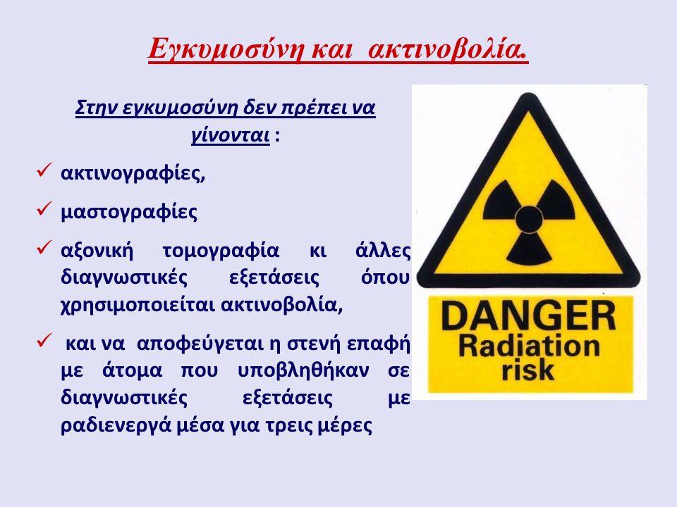 Εγκυμοσύνη και ακτινοβολία.