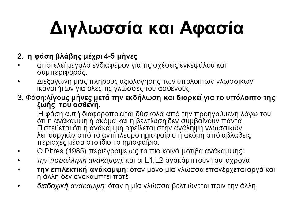 Διγλωσσία και Αφασία 2.