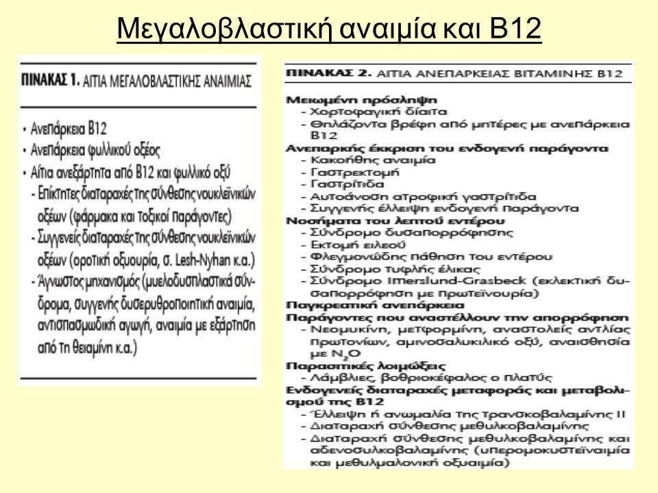 44 Μεγαλοβλαστική αναιμία και Β12