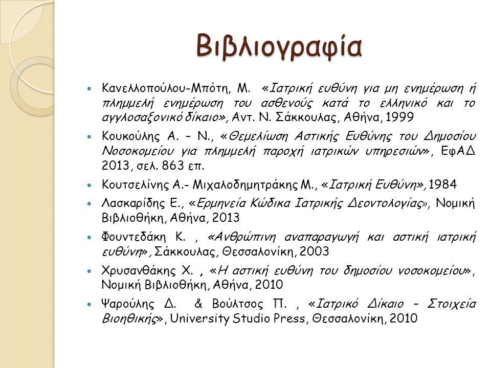 Βιβλιογραφία Κανελλοπούλου-Μπότη, Μ.