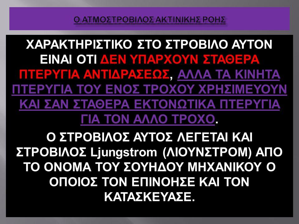 ΧΑΡΑΚΤΗΡΙΣΤΙΚΟ ΣΤΟ ΣΤΡΟΒΙΛΟ ΑΥΤΟΝ ΕΙΝΑΙ ΟΤΙ ΔΕΝ ΥΠΑΡΧΟΥΝ ΣΤΑΘΕΡΑ ΠΤΕΡΥΓΙΑ ΑΝΤΙΔΡΑΣΕΩΣ, ΑΛΛΑ ΤΑ ΚΙΝΗΤΑ ΠΤΕΡΥΓΙΑ ΤΟΥ ΕΝΟΣ ΤΡΟΧΟΥ ΧΡΗΣΙΜΕΥΟΥΝ ΚΑΙ ΣΑΝ ΣΤΑ