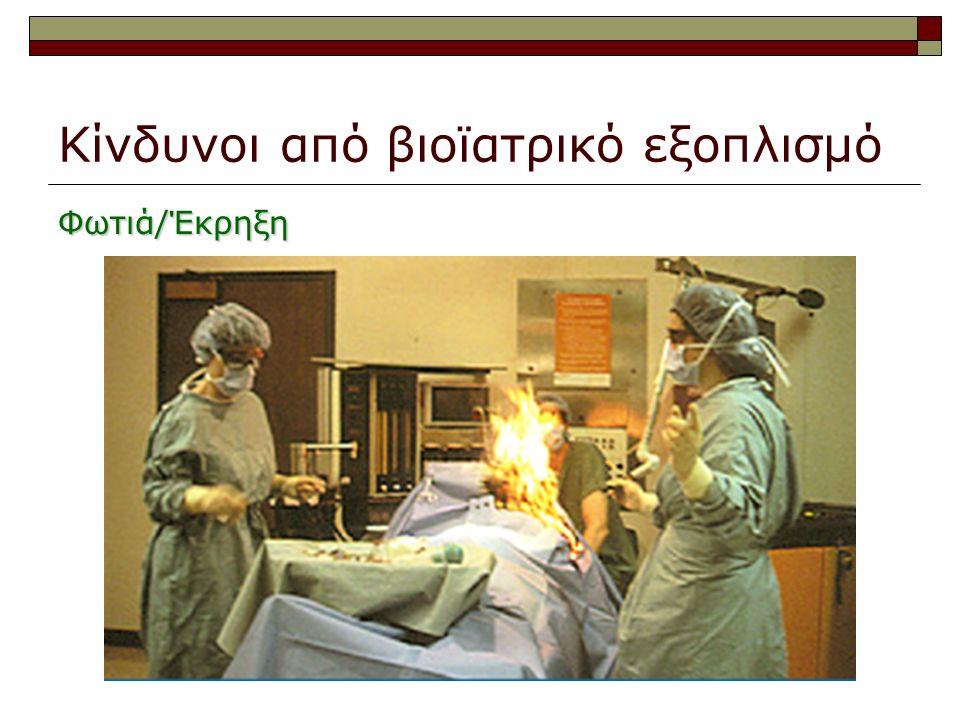 Κίνδυνοι από βιοϊατρικό εξοπλισμό Φωτιά/Έκρηξη