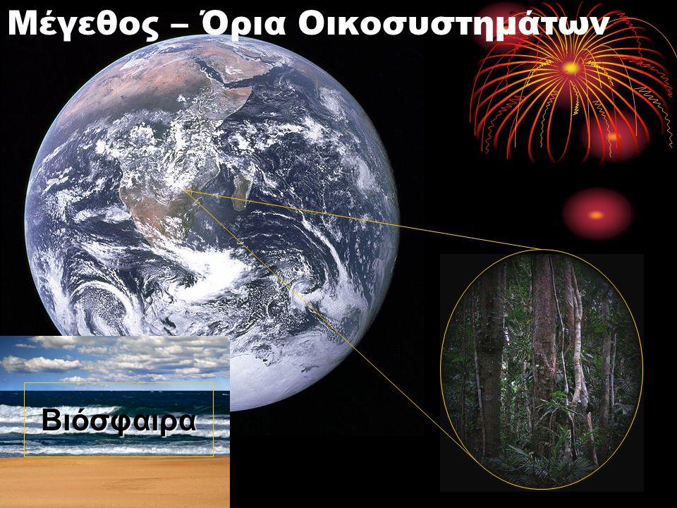 Οικοσυστήματα – Διατήρηση Οργάνωσης - Ροή Ενέργειας Αυτότροφα Ετερότροφα Ενέργεια Διανομή Ενέργειας Ανακύκλωση ύλης ΗλιακήΕνέργεια