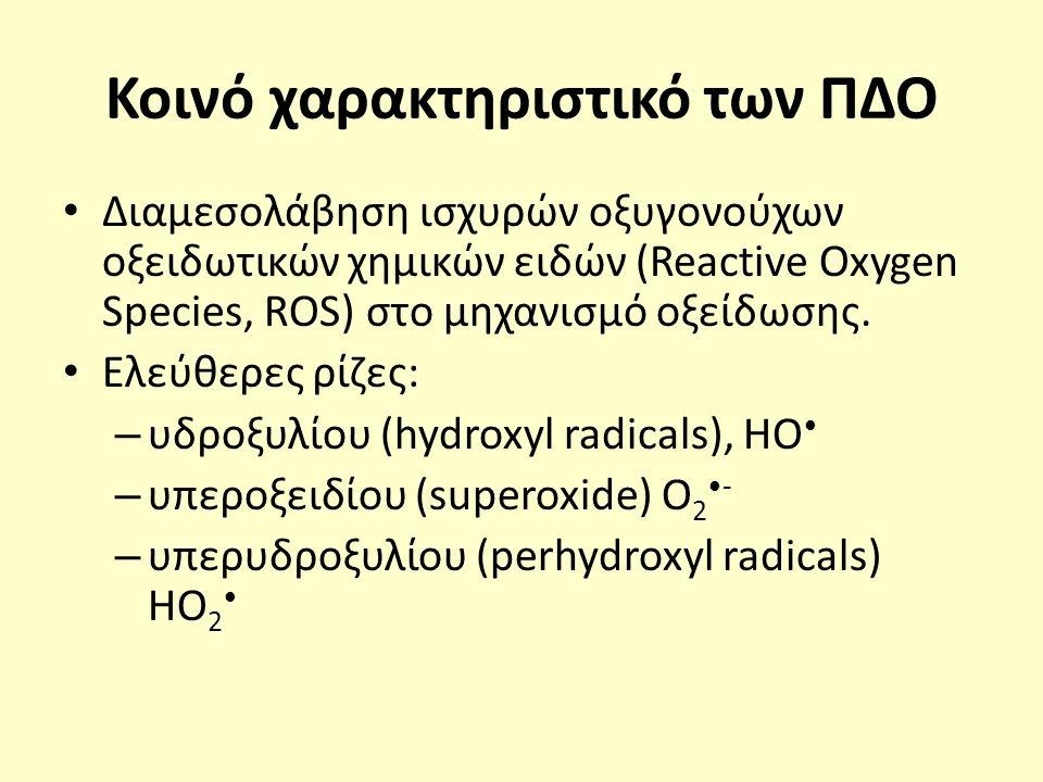 Μηχανισμός δράσης Ο 3 Άμεση οξείδωση: Το Ο 3 οξειδώνει απευθείας τις οργανικές και ανόργανες ενώσεις.