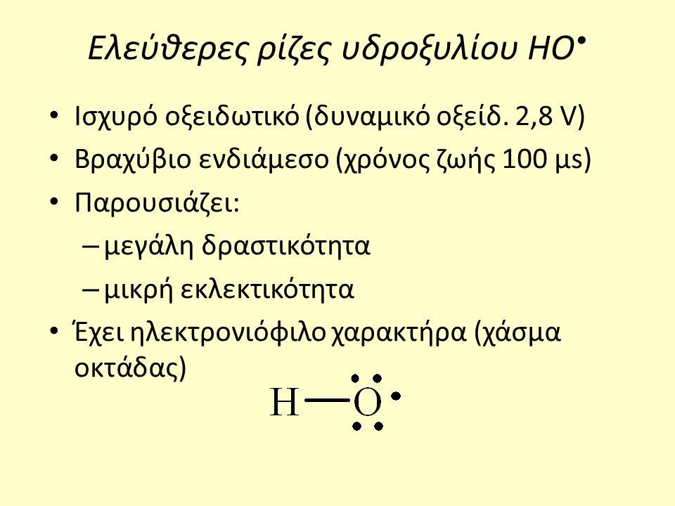 Συνθήκες επεξεργασίας Υψηλές θερμοκρασίες → ευνοούν υψηλούς ρυθμούς οξείδωσης της οργανικής ύλης σε ενδιάμεσα παραπροϊόντα και τελικά σε CO 2, H 2 O και ανόργανα ιόντα.