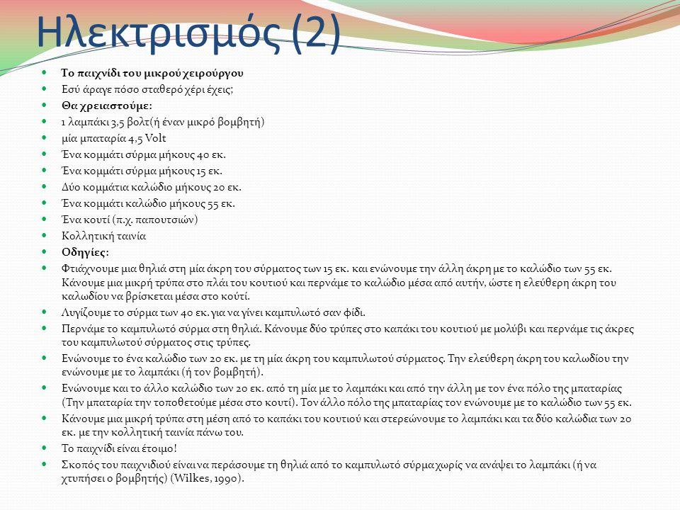 Ηλεκτρισμός (1)