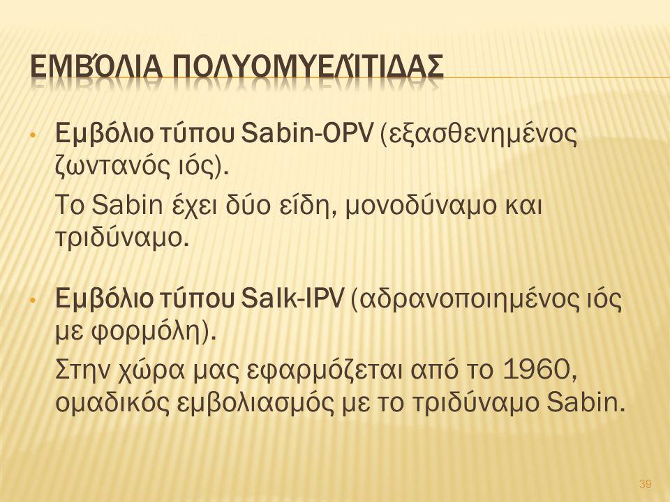 Εμβόλιο τύπου Sabin-OPV (εξασθενημένος ζωντανός ιός).