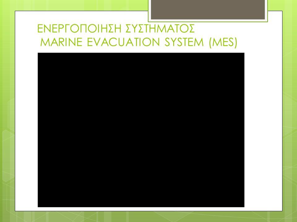 ΕΝΕΡΓΟΠΟΙΗΣΗ ΣΥΣΤΗΜΑΤΟΣ MARINE EVACUATION SYSTEM (MES)