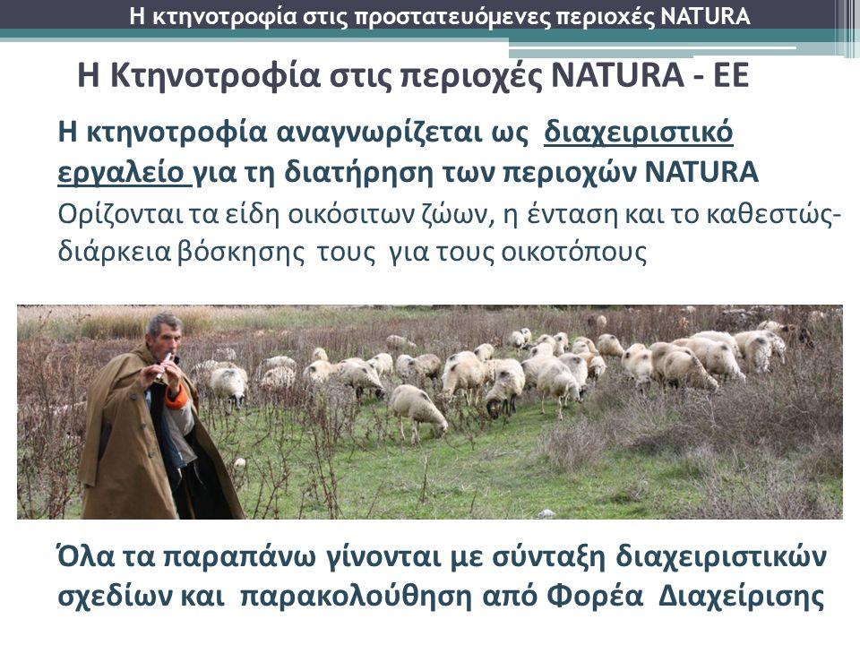Η κτηνοτροφία αναγνωρίζεται ως διαχειριστικό εργαλείο για τη διατήρηση των περιοχών NATURA Ορίζονται τα είδη οικόσιτων ζώων, η ένταση και το καθεστώς-