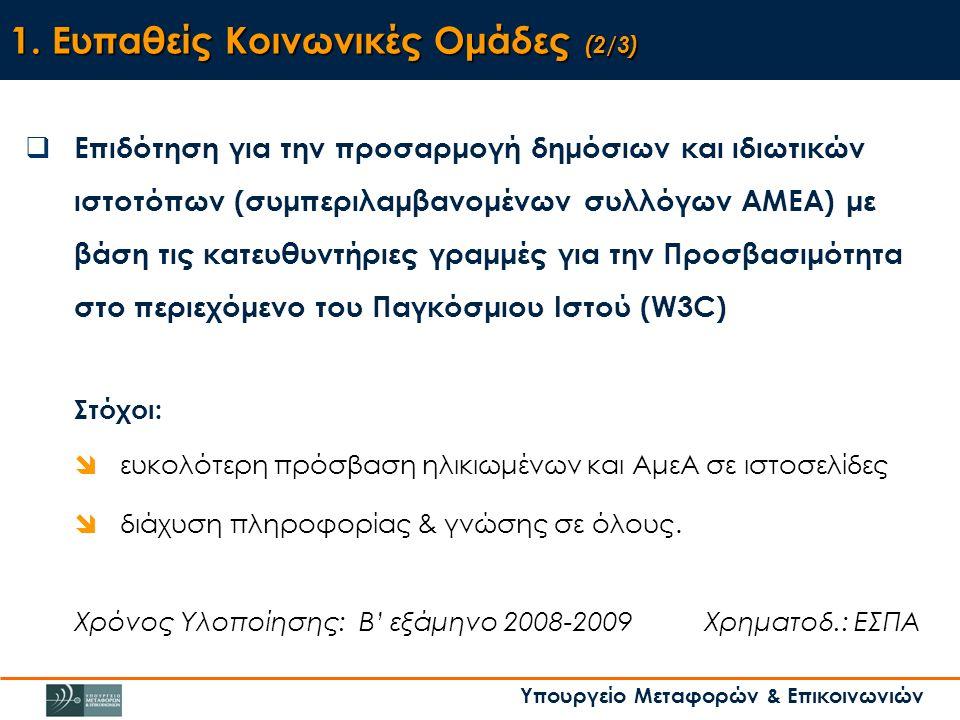 Υπουργείο Μεταφορών & Επικοινωνιών 1.
