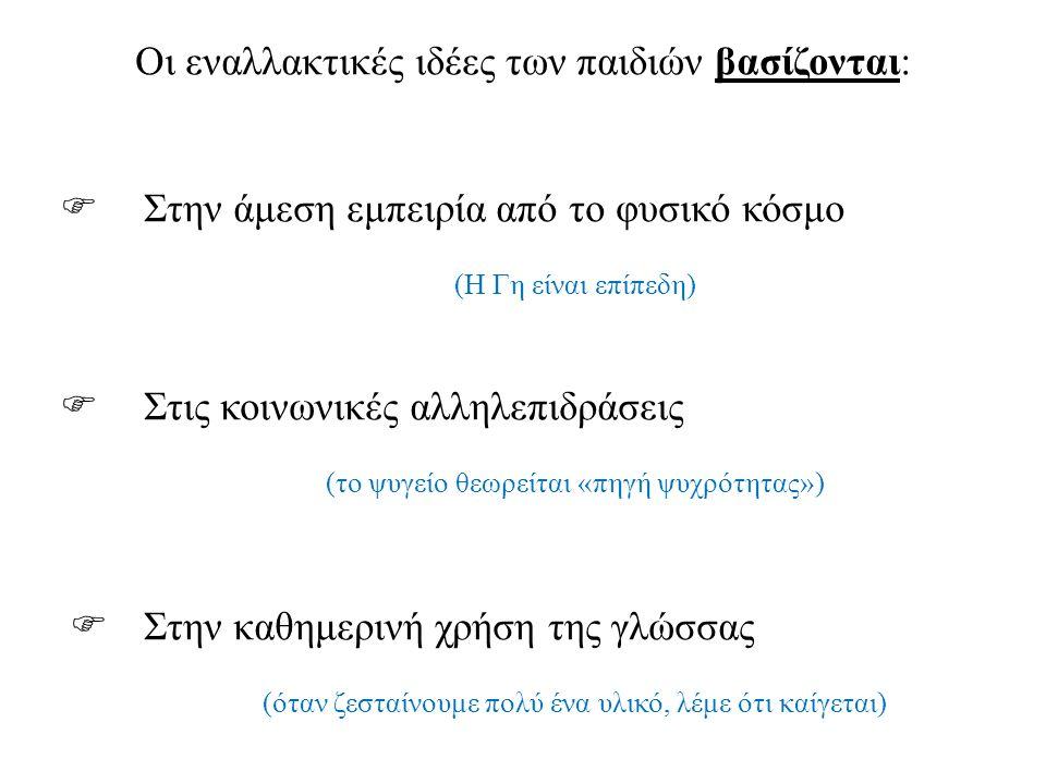 γ) Εστίαση της προσοχής σε αλλαγές και όχι σε σταθερές καταστάσεις Π.χ.