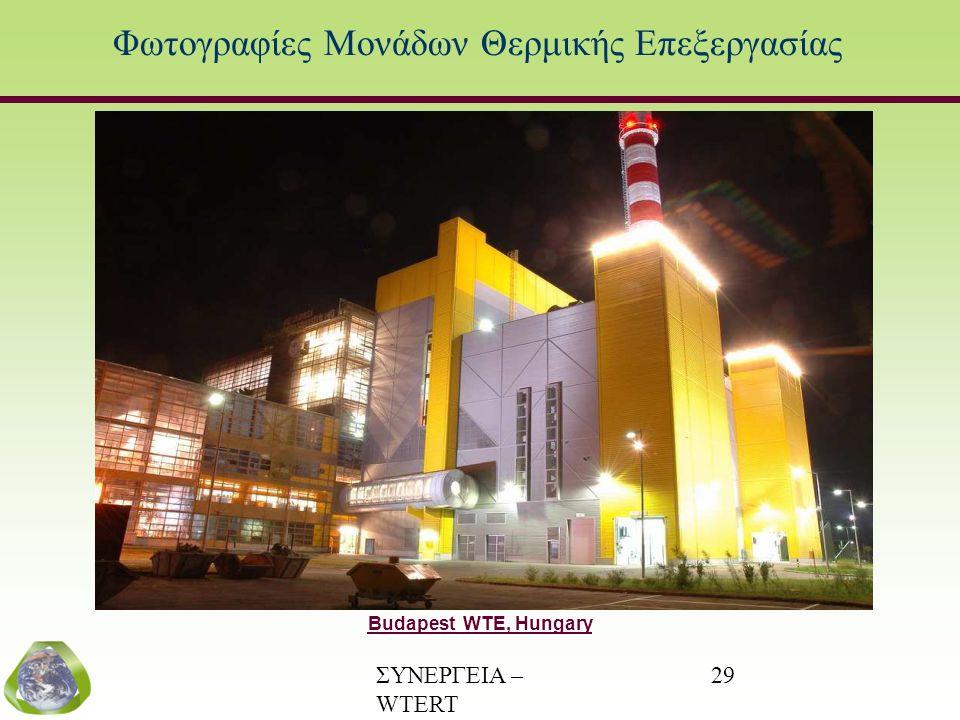 ΣΥΝΕΡΓΕΙΑ – WTERT (www.wtert.gr) 29 Φωτογραφίες Μονάδων Θερμικής Επεξεργασίας Budapest WTE, Hungary