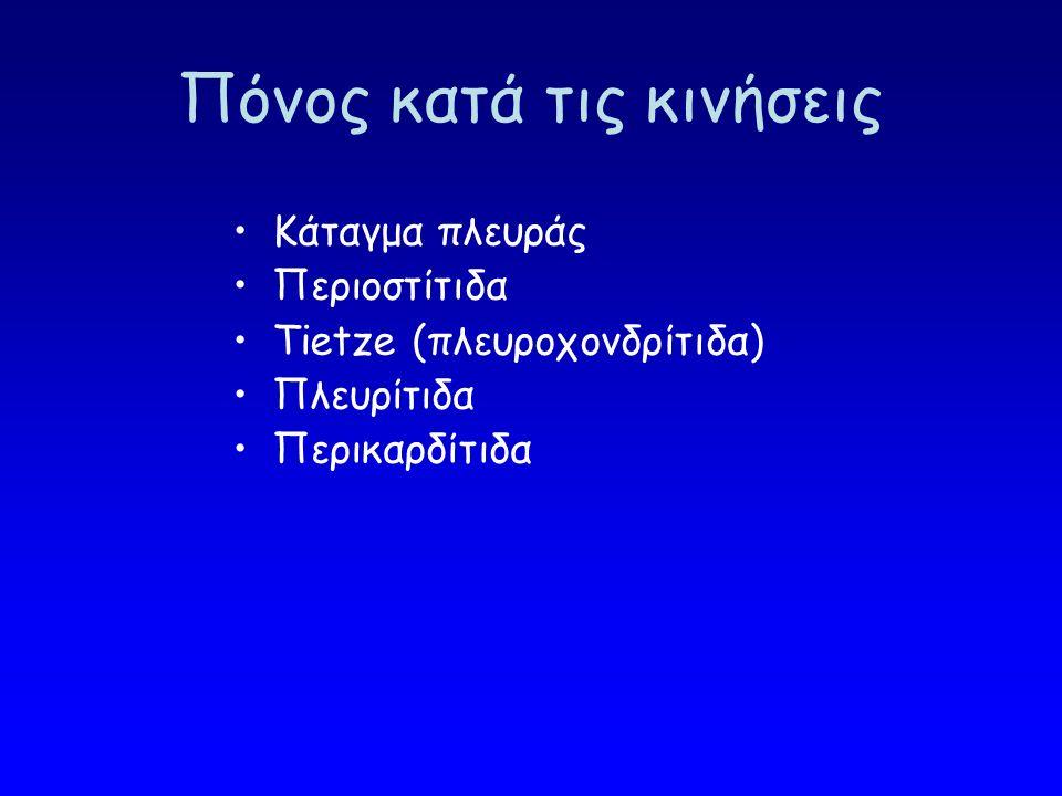 Ζώνη των 6 δερμοτομίων (Θ1-Θ6) Μυοκάρδιο, περικάρδιο, αορτή, πνευμονική, οισοφάγος, μεσοθωράκιο, χοληδόχος, πάγκρεας, δωδεκαδάκτυλο, στόμαχος Βαθύς, σπλαχνικός, μη σαφώς εντοπιζόμενος