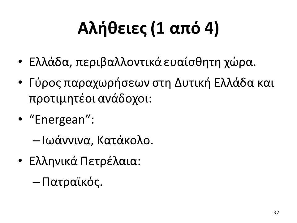 Αλήθειες (1 από 4) Ελλάδα, περιβαλλοντικά ευαίσθητη χώρα.