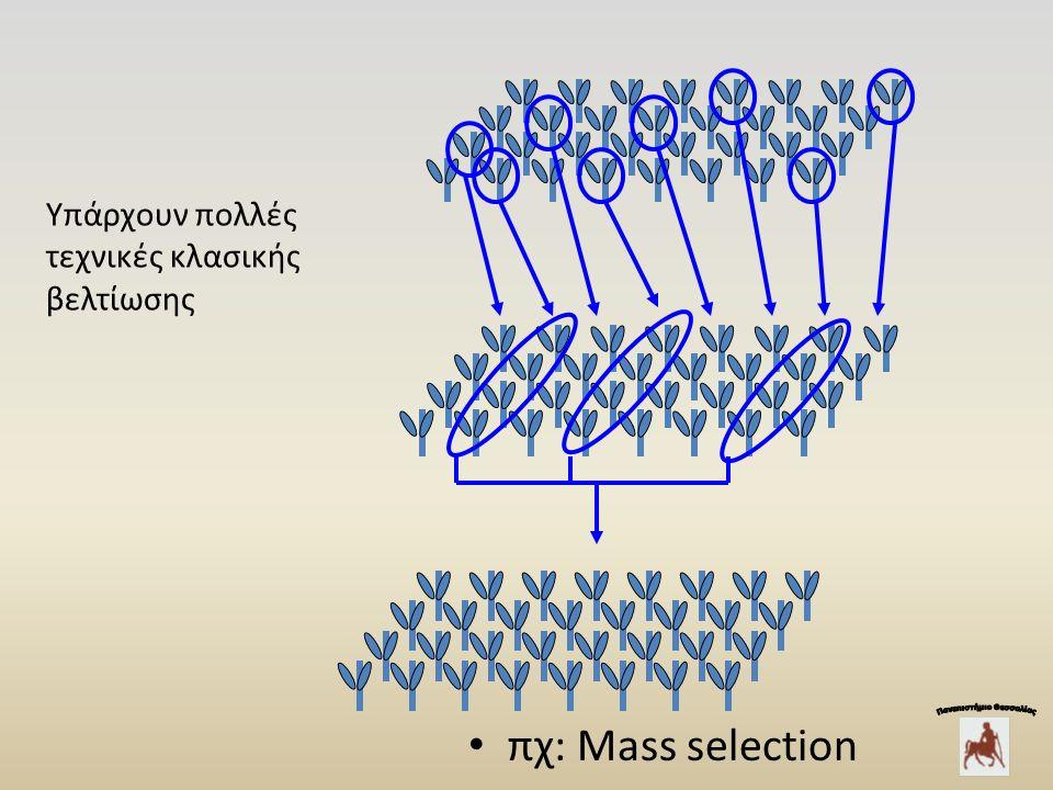 Yπάρχουν πολλές τεχνικές κλασικής βελτίωσης πχ: Mass selection