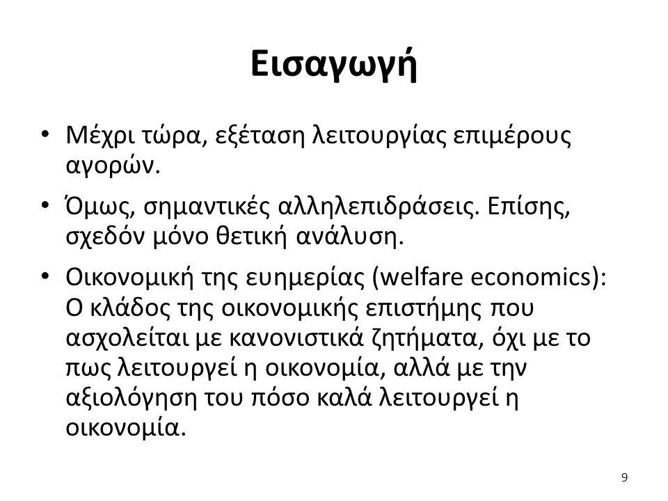 Μάθημα: Μικροοικονομική Ι, Ενότητα # 10: Οικονομική της ευημερίας Διδάσκων: Πάνος Τσακλόγλου, Τμήμα: Διεθνών και Ευρωπαϊκών Οικονομικών Σπουδών Ατελής πληροφόρηση