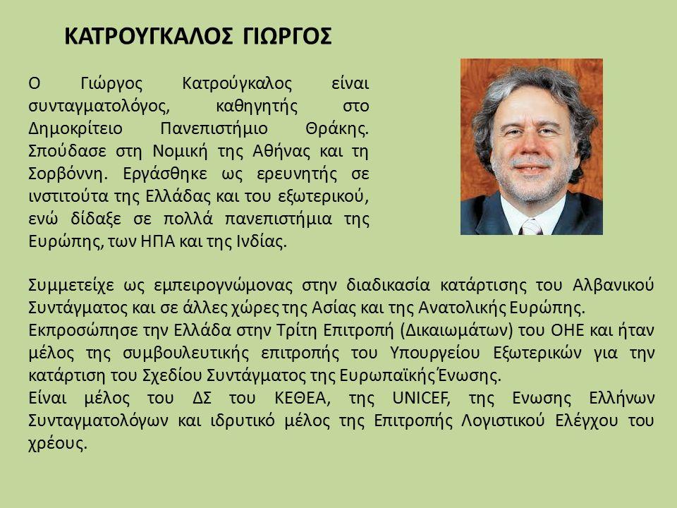 Συμμετείχε ως εμπειρογνώμονας στην διαδικασία κατάρτισης του Αλβανικού Συντάγματος και σε άλλες χώρες της Ασίας και της Ανατολικής Ευρώπης.