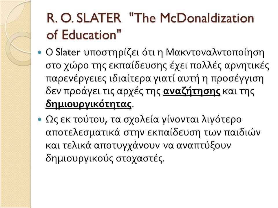 R. O. SLATER