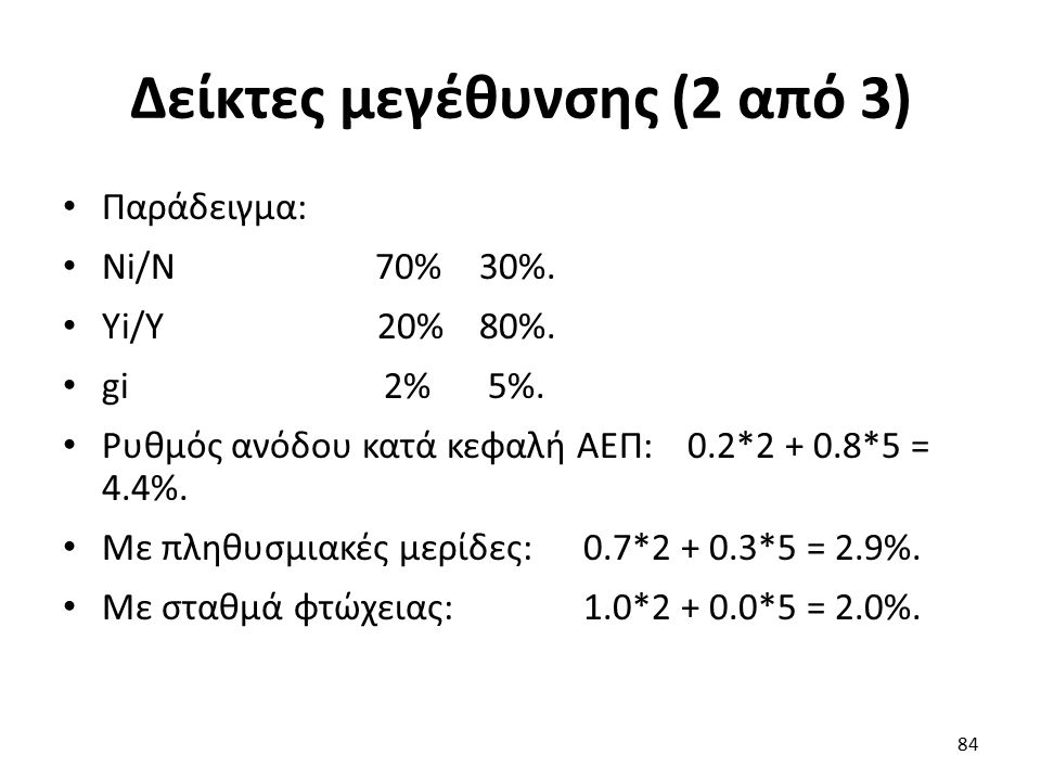 Δείκτες μεγέθυνσης (2 από 3) Παράδειγμα: Ni/N70%30%.
