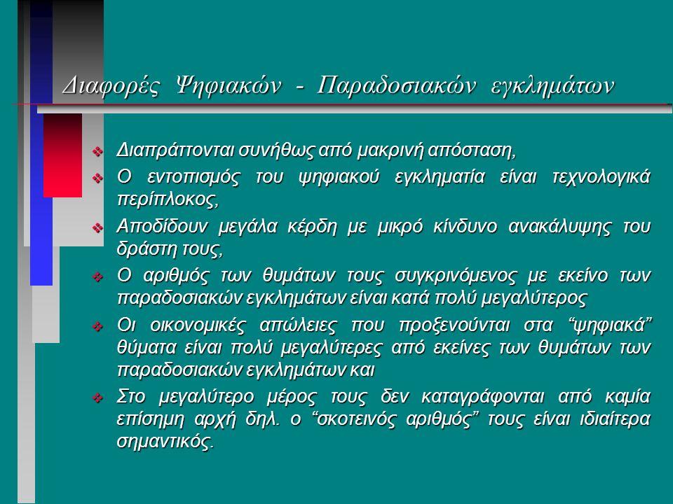 Συνηθισμένα ψηφιακά εγκλήματα σήμερα: Ελλάδα n 1.Απάτες μέσω Διαδικτύου n 2.