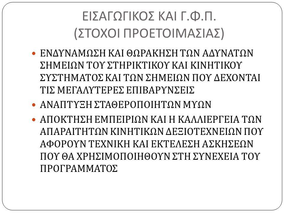 ΕΙΣΑΓΩΓΙΚΟΣ ΚΑΙ Γ. Φ. Π.