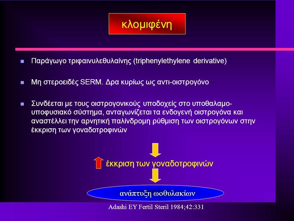 n Παράγωγο τριφαινυλεθυλαίνης (triphenylethylene derivative) n Μη στεροειδές SERM.