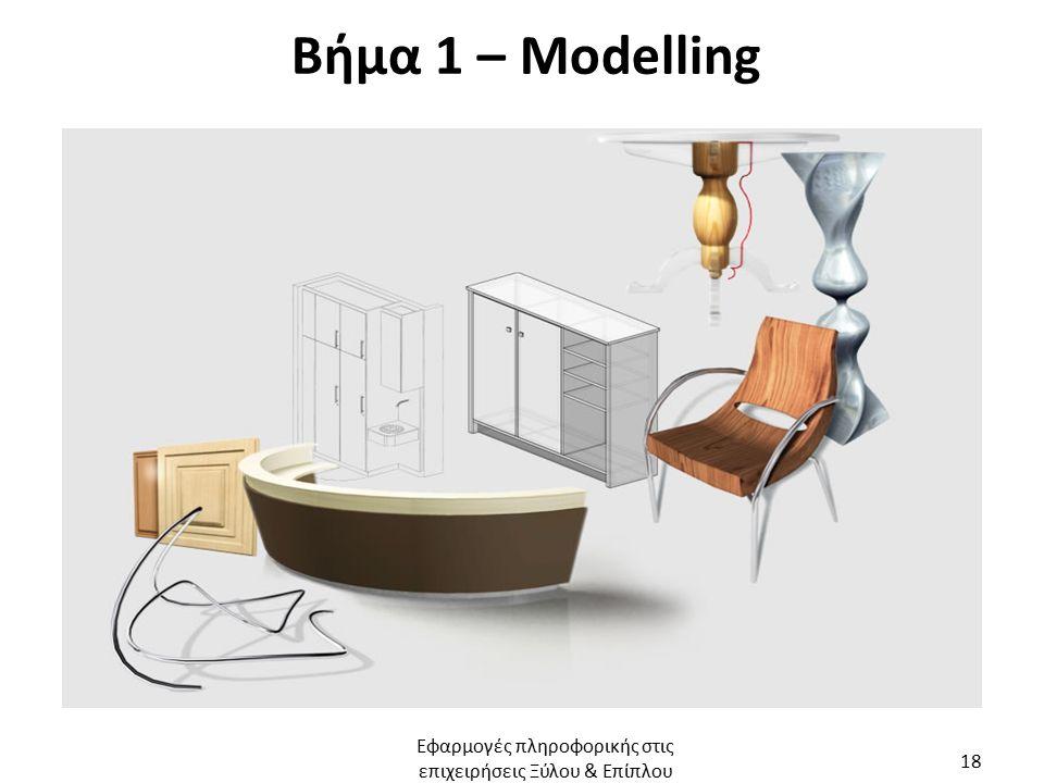 Βήμα 1 – Modelling Εφαρμογές πληροφορικής στις επιχειρήσεις Ξύλου & Επίπλου 18