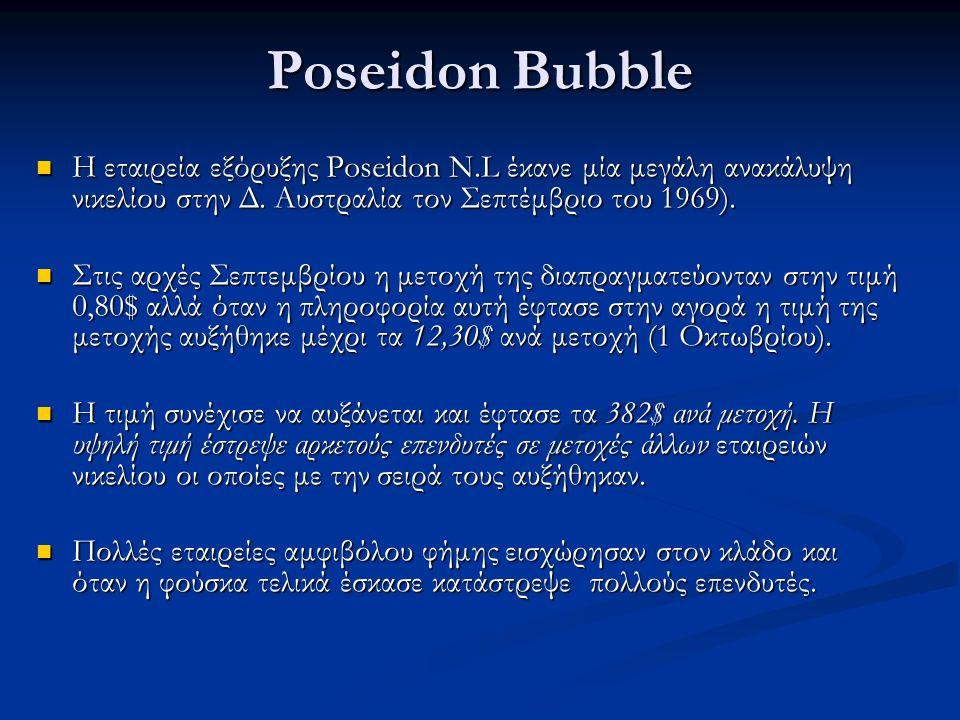Poseidon Bubble H εταιρεία εξόρυξης Poseidon N.L έκανε μία μεγάλη ανακάλυψη νικελίου στην Δ.