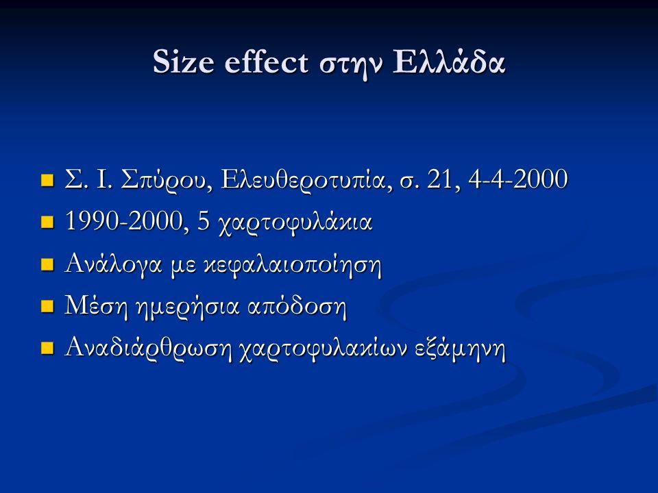 Size effect στην Ελλάδα Σ. Ι. Σπύρου, Ελευθεροτυπία, σ.