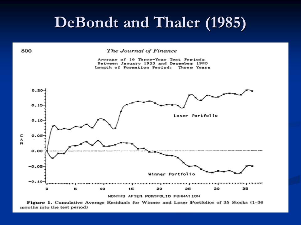 DeBondt and Thaler (1985)