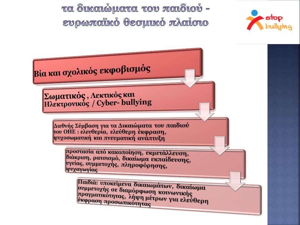 «καθηκοντολόγιο» εκπαιδευτικών, όχι όμως διευκρίνιση αρμοδιοτήτων Σχολικών Συμβούλων και Συλλόγου Διδασκόντων, ο Διευθυντής υπεύθυνος για σχολική μονάδα ο Σχολικός Σύμβουλος να έχει αρμοδιότητες και να συνεργάζεται με υπηρεσίες, πρόταση για Ομάδα Παρέμβασης με ψυχολόγο και κοινωνικό λειτουργό: καταγραφή περιστατικών, συζήτηση και διαχείριση προβλήματος, ευαισθητοποίηση, ενημέρωση, πρωτοβουλίες και αναστοχασμός επιμόρφωση εκπαιδευτικών σε διαχείριση συμπεριφοράς, τεχνικές αυτοελέγχου, ενσυναίσθησης και κατανόησης, ενθάρρυνση μαθητών, καλλιέργεια κοινωνικών δεξιοτήτων
