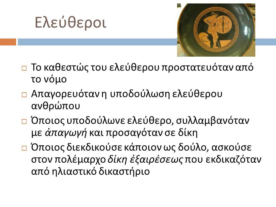Κτήση της ιδιότητας του πολίτη  Η ιδιότητα του πολίτη αποκτάται με τη γέννηση από αθηναίους γονείς  Μέχρι το 451/0 αρκεί ο πατέρας να είναι Αθηναίος  Πολλοί επώνυμοι αθηναίοι είχαν π.