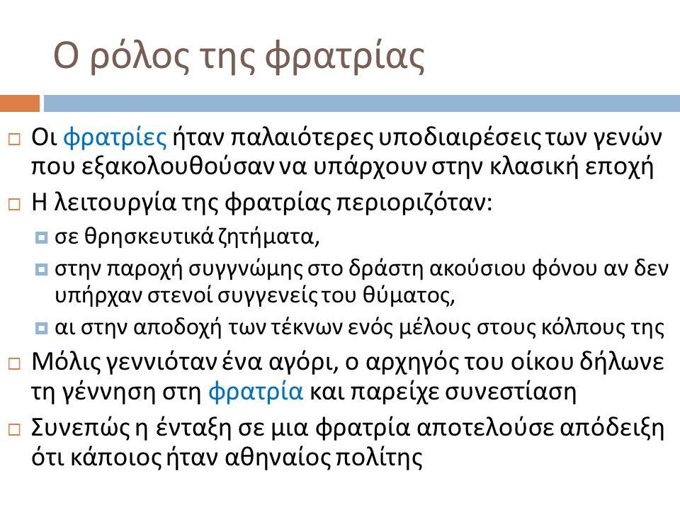 Αθηναίοι πολίτες : δικαιώματα  Οι αθηναίοι πολίτες είναι οι μόνοι που έχουν πλήρη πολιτικά και αστικά δικαιώματα :  Ἄρχειν ( συμμετοχή στην εκτελεστική εξουσία - κλήρωση για την ανάδειξη των αρχόντων του κάθε έτους )  Δικάζειν ( συμμετοχή στη δικαστική εξουσία - κλήρωση για την ανάδειξη των δικαστών του έτους )  Ἐκκλησιάζειν ( συμμετοχή στη νομοθετική εξουσία - αυτοπρόσωπη συμμετοχή στις συνεδριάσεις της εκκλησίας του δήμου )  Δικαίωμα παροχής έννομης προστασίας, δικαίωμα άσκησης κάθε είδους αγωγής και μήνυσης, δικαίωμα μαρτυρίας στο δικαστήριο  Δικαίωμα να νυμφεύονται Αθηναίες  Δικαίωμα κυριότητας ακίνητης περιουσίας