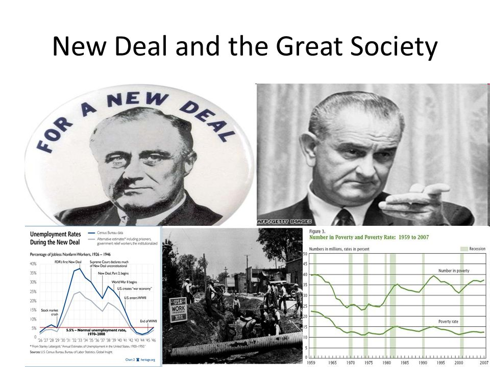 New Deal and the Great Society