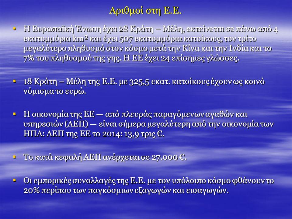 Το Συμβούλιο της Ευρωπαϊκής Ένωσης Το Συμβούλιο της Ευρωπαϊκής Ένωσης Οι κύριες αρμοδιότητες του Συμβουλίου είναι οι εξής:  Θεσπίζει τη νομοθεσία της ΕΕ.