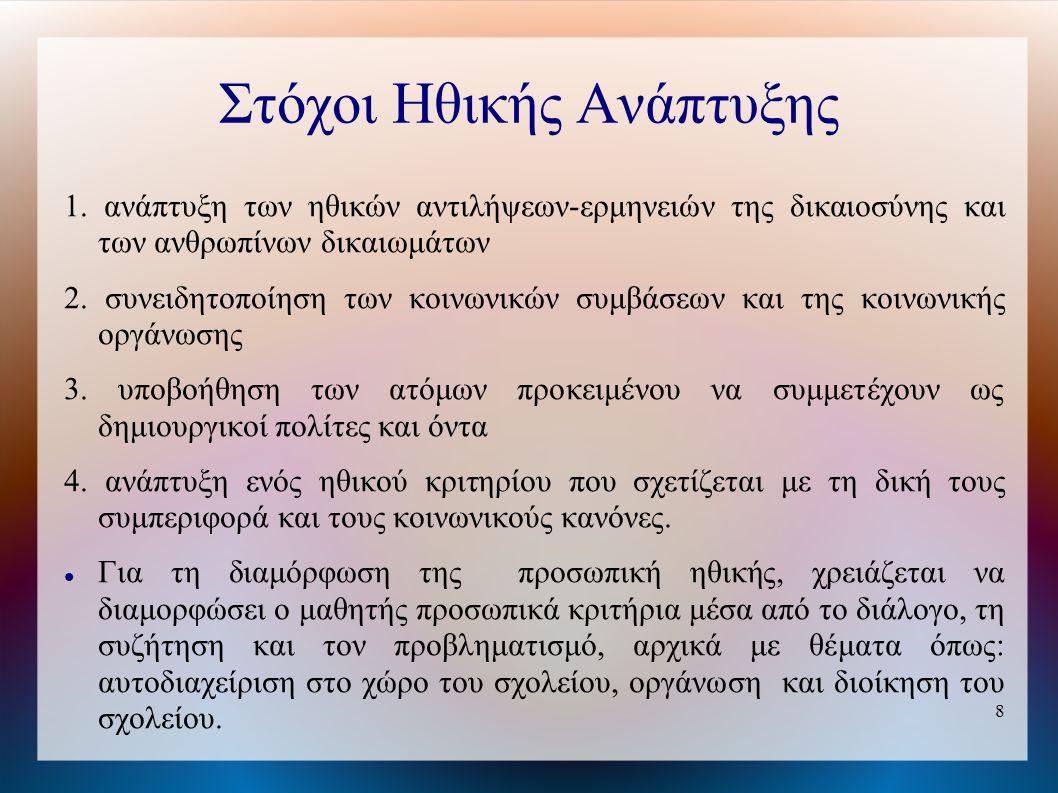8 Στόχοι Ηθικής Ανάπτυξης 1.