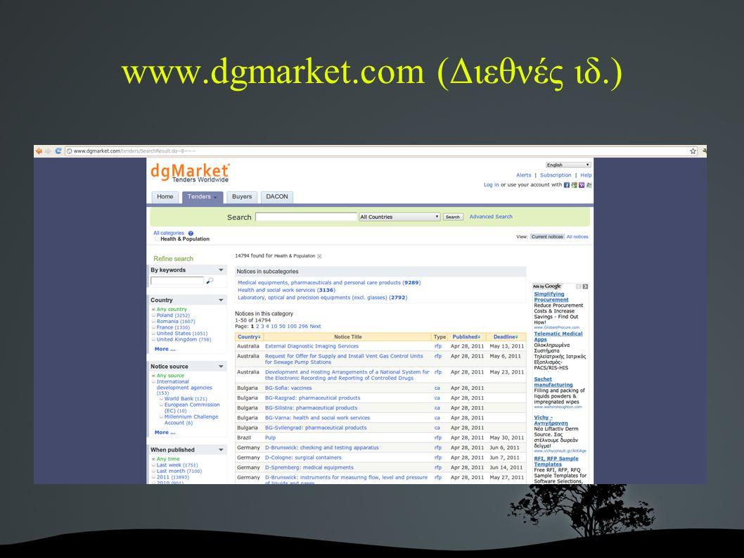 www.dgmarket.com (Διεθνές ιδ.)