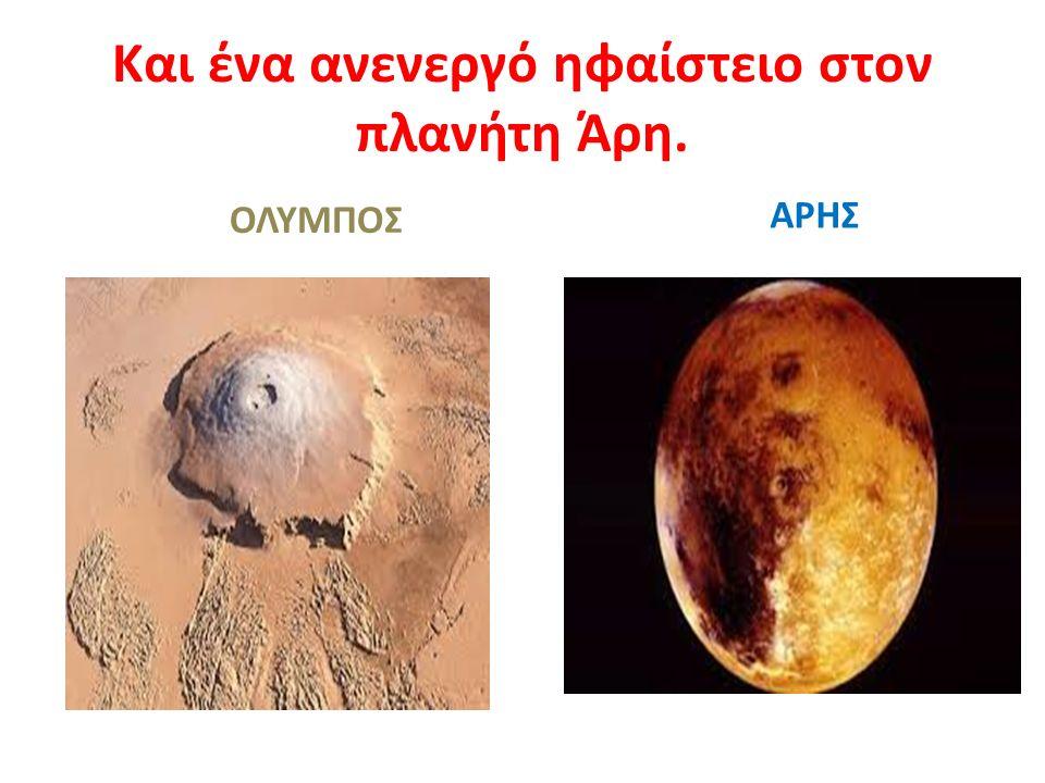 Και ένα ανενεργό ηφαίστειο στον πλανήτη Άρη. ΟΛΥΜΠΟΣ ΑΡΗΣ