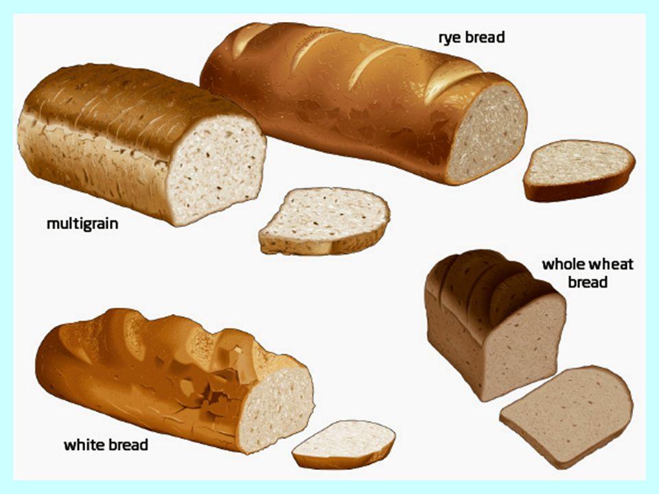 68 Δύο φέτες ψωμί από διαφορετικά σιτηρά: ψωμί αραβοσίτου (αριστερά) και σιτάρι ολικής άλεσης (δεξιά).