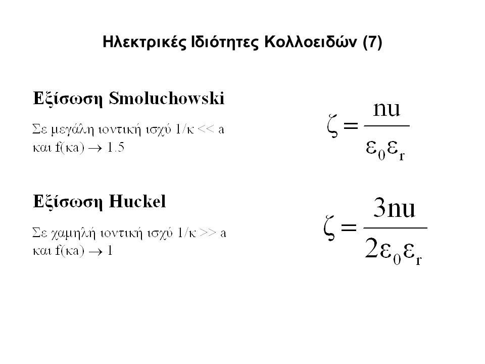 Ηλεκτρικές Ιδιότητες Κολλοειδών (7)