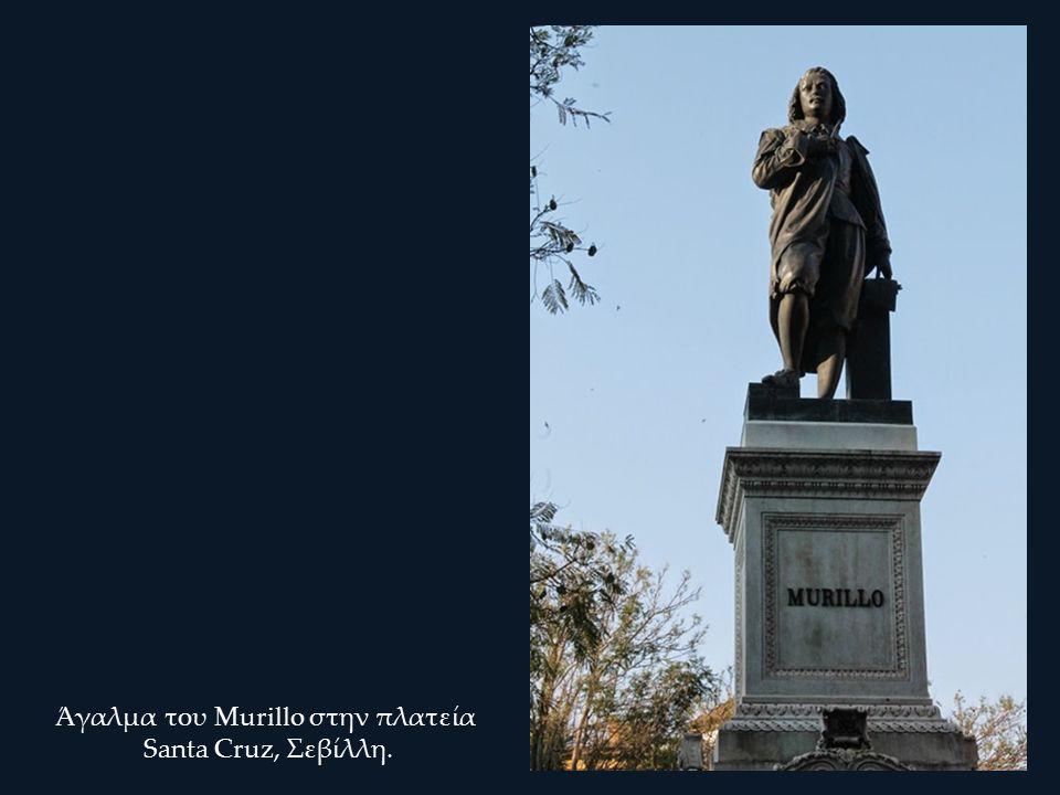 Άγαλμα του Murillo στην πλατεία Santa Cruz, Σεβίλλη.