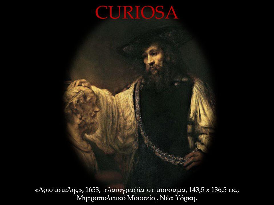 «Αριστοτέλης», 1653, ελαιογραφία σε μουσαμά, 143,5 x 136,5 εκ., Μητροπολιτικό Μουσείο, Νέα Υόρκη.