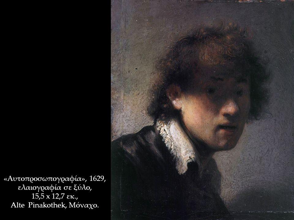 «Αυτοπροσωπογραφία», 1629, ελαιογραφία σε ξύλο, 15,5 x 12,7 εκ., Alte Pinakothek, Μόναχο.
